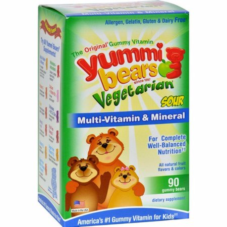 Hero Nutritionals Yummi Bears Multi-vitamin And Mineral Vegetarian Fruit - 90 Gummy Bears