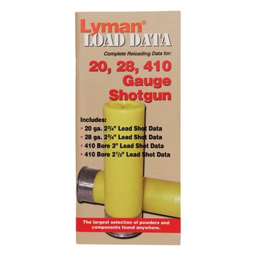 Lyman Load Data Book 16, 20 & 28 Gauge SKU: 9780002 with Elite Tactical Cloth by Lyman
