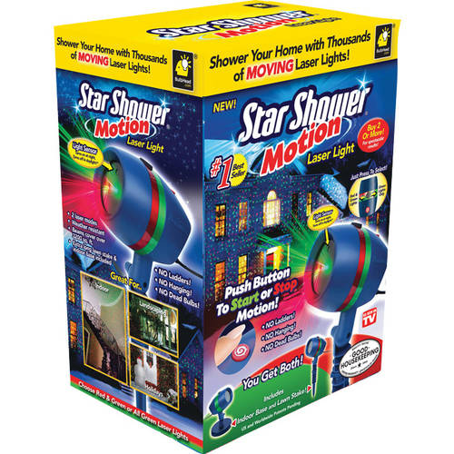 As Seen on TV Star Shower Laser Motion, Christmas Lights - Walmart.com