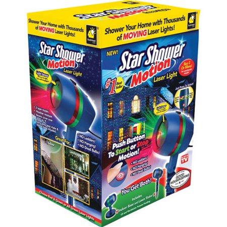As seen on tv star shower laser motion christmas lights for Star shower motion m6