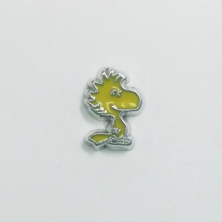 1 PC - Woodstock Peanuts Enamel Silver Charm for Floating Locket Jewelry F0290](Floating Charm)