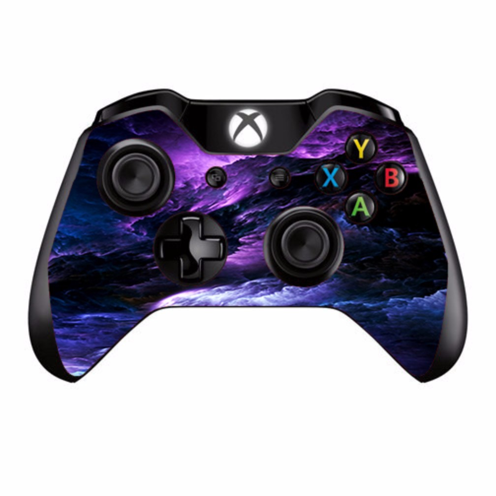 Skins Decals For Xbox One / One S W/Grip-Guard / Purple Storm Clouds
