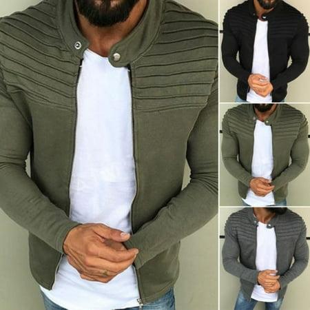 Underwear Zip Collar Shirt - Men´s Winter Zip up Slim Collar Jacket Tops Long Sleeve Casual Coat Outerwear M-3XL