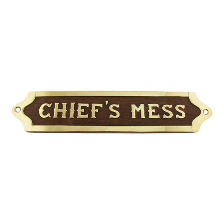 Chiefs Mess Brass Door Sign Maritime Ships Plaque Ship Wall Decor Us Navy Gift