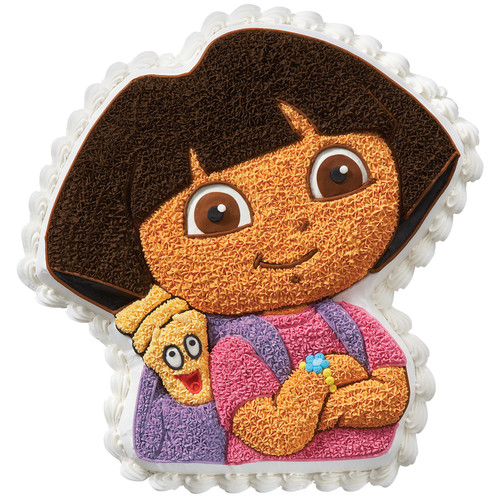 Wilton Novelty 11x11 Shaped Cake Pan Dora The Explorer 2105