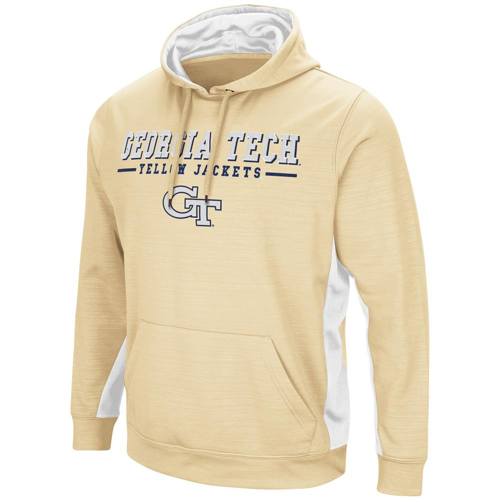 Georgia Tech GT Hoodie Performance Fleece Pullover Jacket by Colosseum