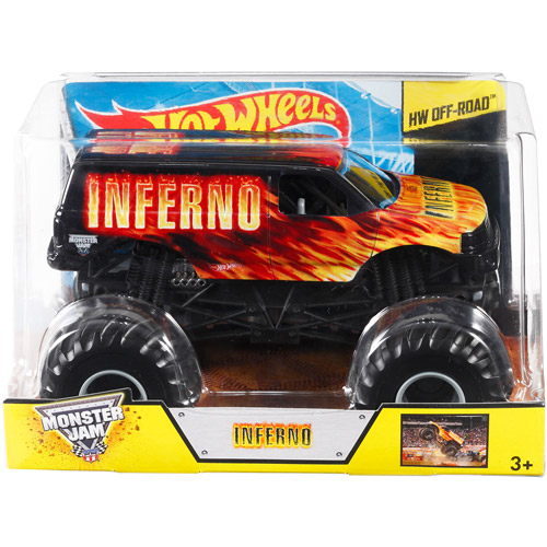 Hot Wheels Monster Jam Inferno Die-Cast Vehicle, 1:24 Scale by Generic