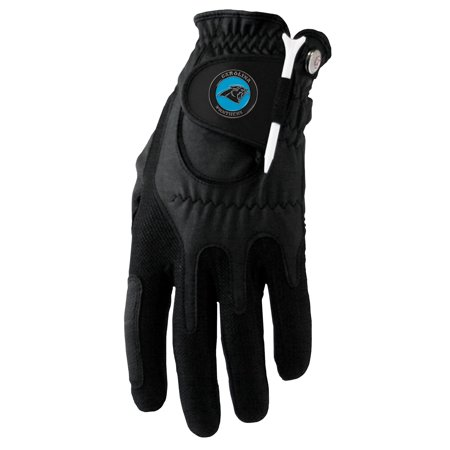 Carolina Panthers Left Hand Golf Glove & Ball Marker Set - Black - OSFM](Panther Gloves)