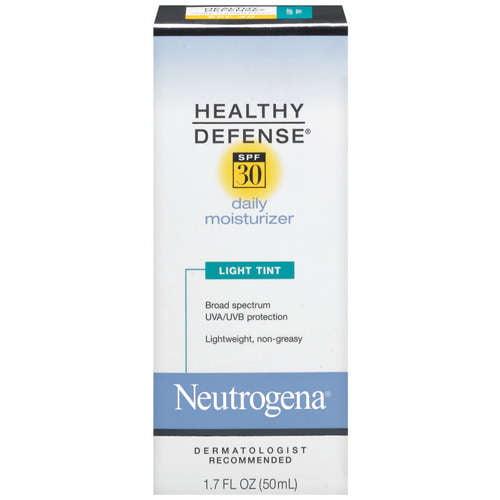 Neutrogena healthy defense daily moisturizer spf 30 light tint