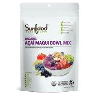 Sunfood superfoods organic acai maqui bowl powder, 6.0 oz