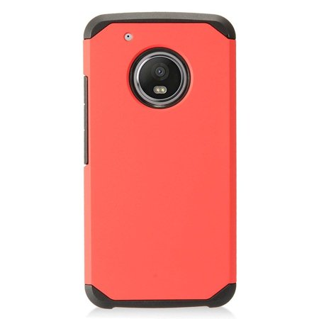 Insten Dual Layer [Shock Absorbing] Hybrid Hard Snap-in Case Cover For Motorola Moto G5 Plus,