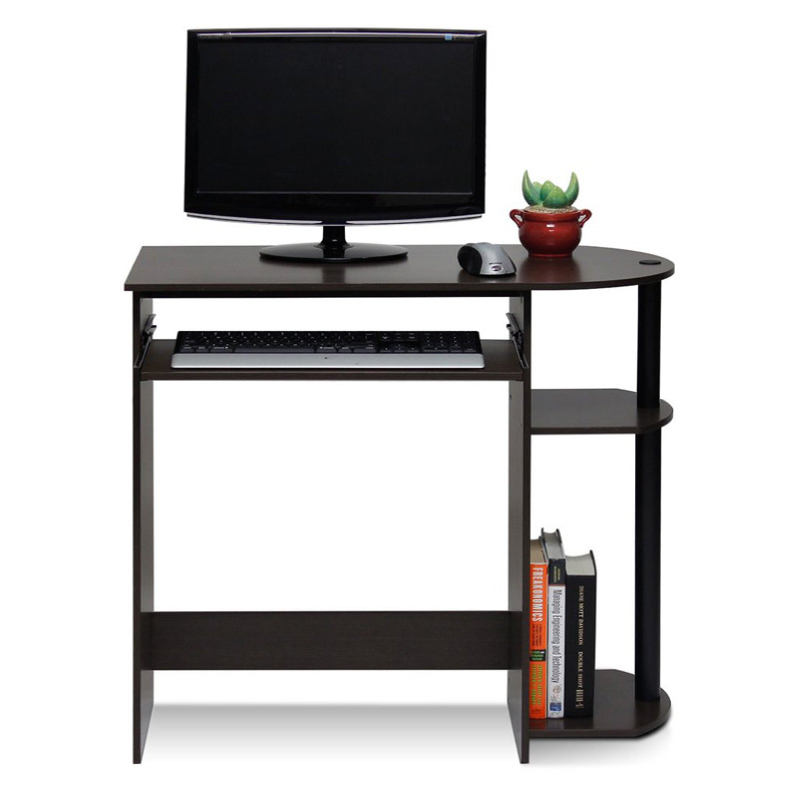 Furinno Simplistic Easy Assembly Computer Desk, Multiple Colors