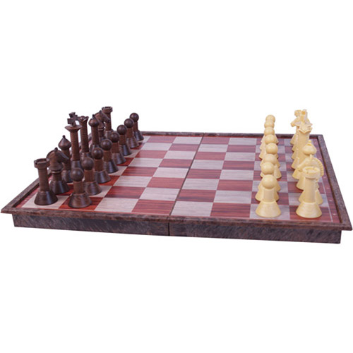 Classic Game Collection Magnetic Faux Wood Chess Set by John N. Hansen Co.