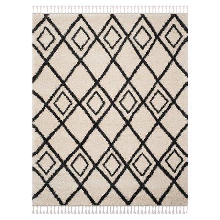 Safavieh Moroccan Fringe Kingston Geometric Shag Area Rug