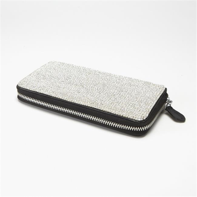 Alexander Kalifano SW-003-C Wallet Made with Crystals - Crystal