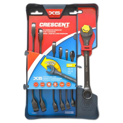 Crescent  CX6RWM7 Metric Ratcheting Wrench Set 7 Piece Set