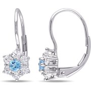 Tangelo 1 Carat T.g.w. Blue Topaz And Wh