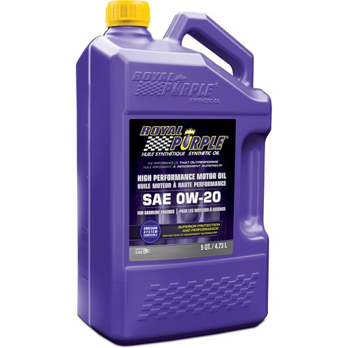 Royal Purple 0W-20 SAE Motor Oil, 5 qt