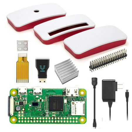 Vilros Raspberry Pi Zero W Basic Starter Kit with Official Case-Power Supply and More](raspberry pi electronics starter kit)