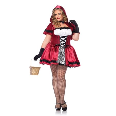Gothic Red Riding Hood Plus Size Costume](Gothic Red Riding Hood Costume)