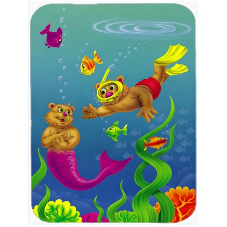 Teddy Business (Teddy Bear Mermaid and Diver Mouse Pad, Hot Pad or Trivet APH0414MP )