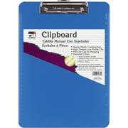 CLI, LEO89715, Rubber Grip Plastic Clipboards, 1 Each, Neon Blue