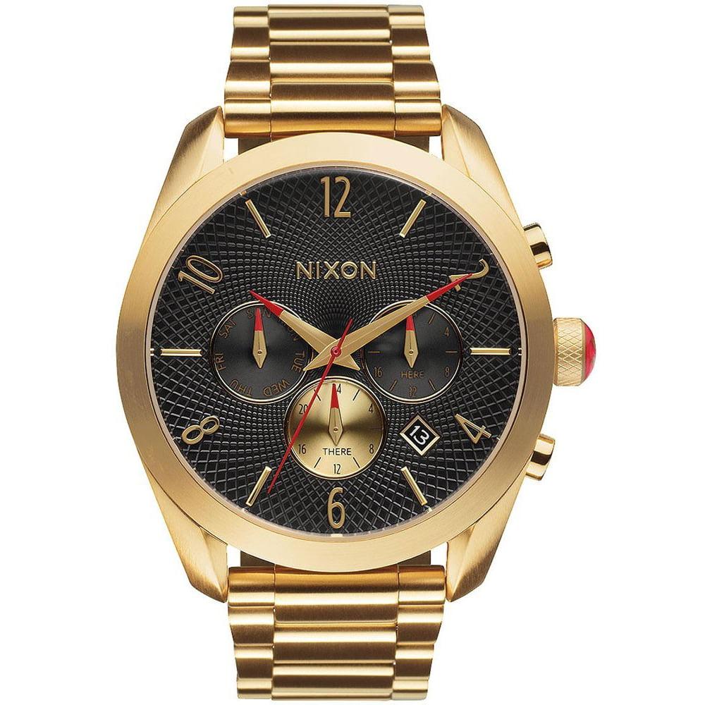 Nixon Women's Bullet Chronograph Gold-Tone Watch A366510