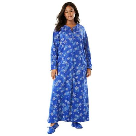 Dream Fleece Robe (Dreams & Co. Plus Size Fleece Robe With Free Slippers)
