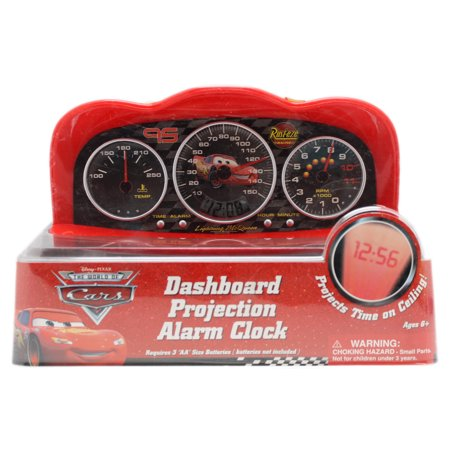 Disney Pixar's Cars Lightning McQueen Dashboard Projection Digital Alarm - Dashboard Clock