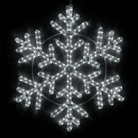 Wintergreen Lighting LED Snowflake Light Christmas Decorations Outdoor Snowflake Christmas Lights, Christmas Snowflake, LED Rope Light (24