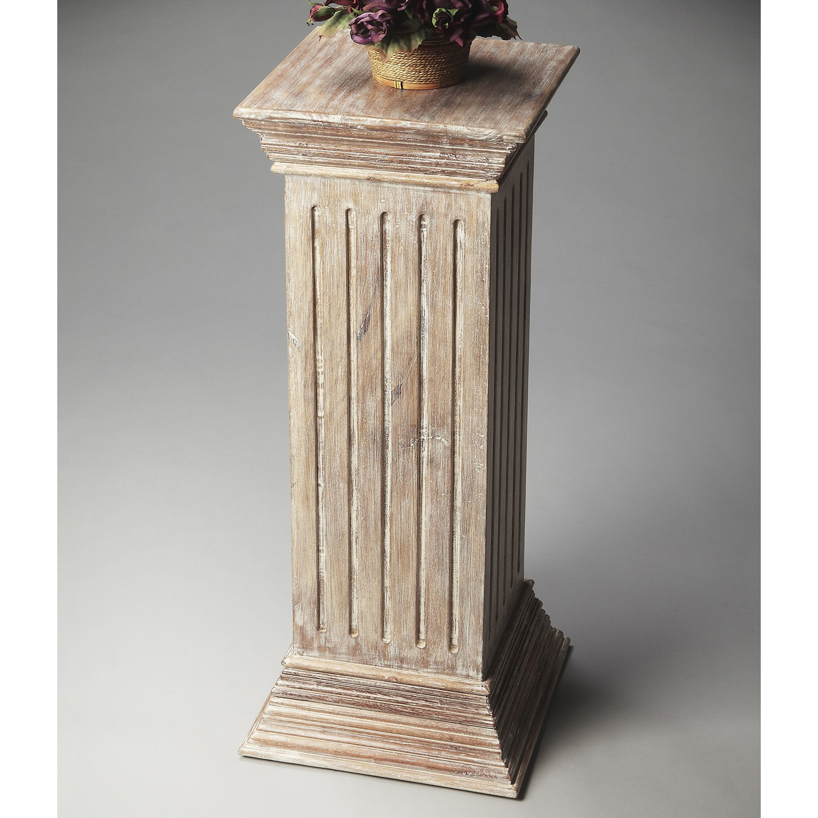 gilt italian stands stand wood pedestal pin carved columns and
