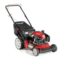 Troy-Bilt TB130 21 Inch 159cc Gas Mulching Push Walk Behind Lawn Mower, Red