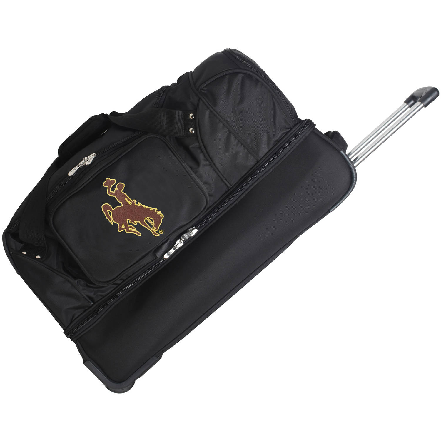 "Denco NCAA 27"" Rolling Drop Bottom Duffel, Wyoming"