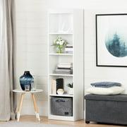 """South Shore Smart Basics 5-Shelf 68 3/4"""" Narrow Bookcase, Multiple Finishes"""