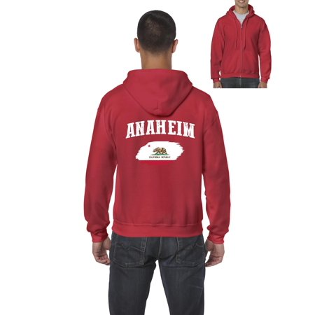 Anaheim California Mens Hoodies Zip Up Sweater