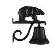 Montague Metal Products CB-1-45-SB Cast Bell With Satin Black Bear Ornament