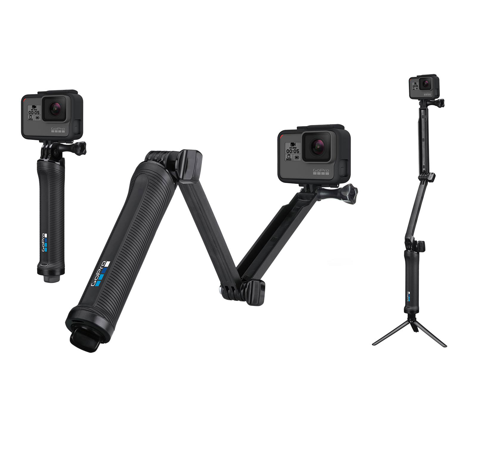 GoPro HERO5 Black Waterproof 4K Cam & GoPro 3 Way Tripod