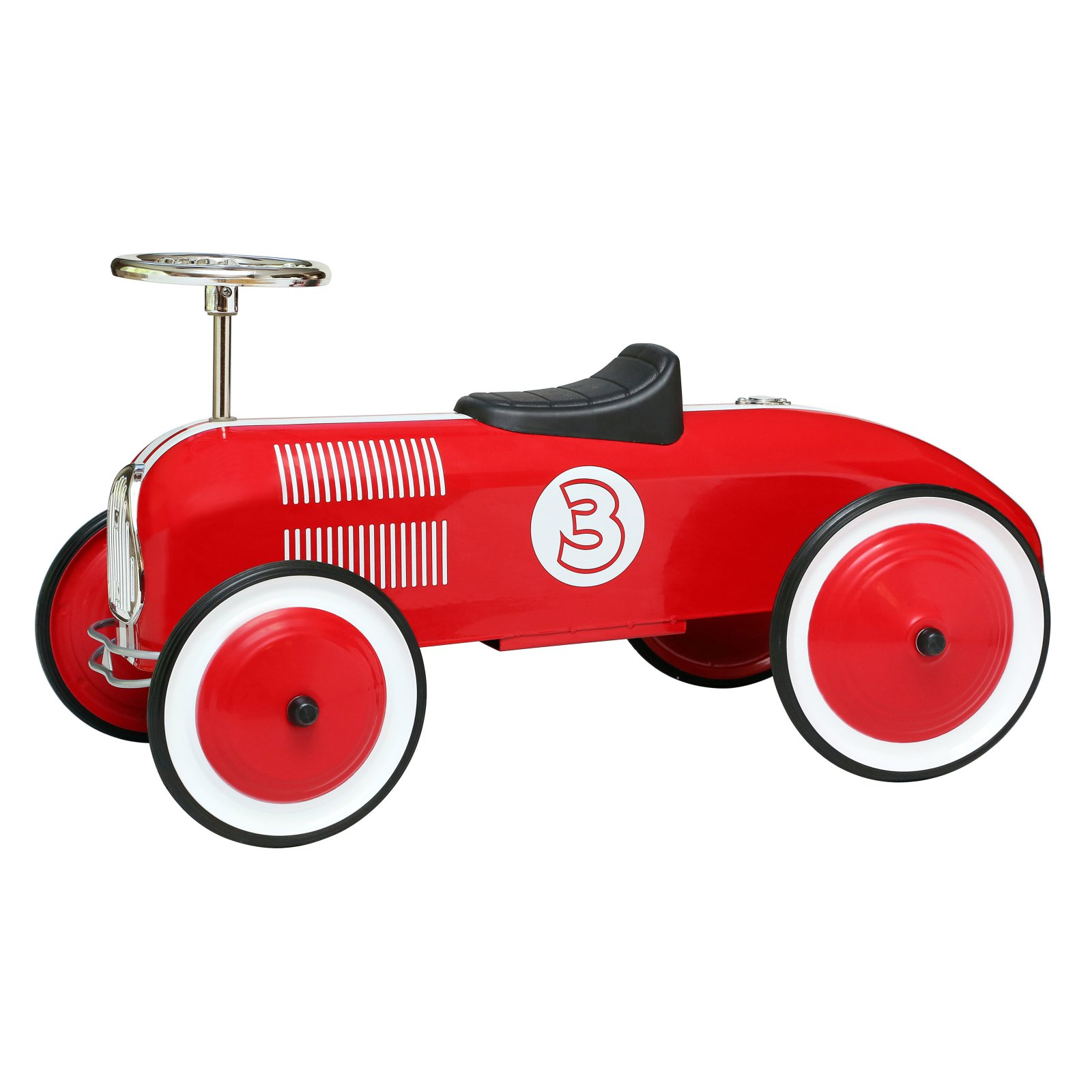 Morgan Cycle Red Striped Racer Riding Push Toy