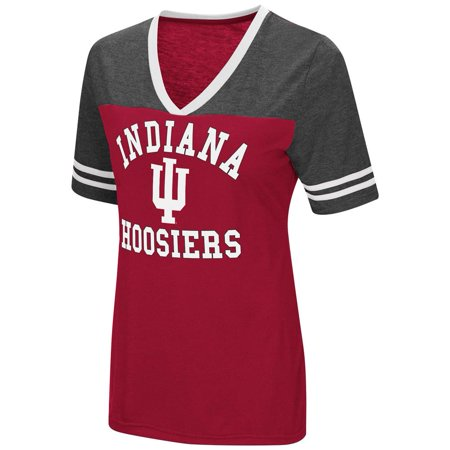 Indiana University Hoosiers Women's S/S Tee Colosseum Short (Indiana University Merchandise)