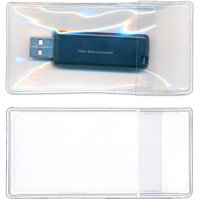 StoreSMART Peel-and-stick Single Flash Drive Holders with Flaps for Office and Home Organization, Data Storage and Legal, Pack of 100