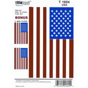TRIMBRITE T1894 Decal, American Flag