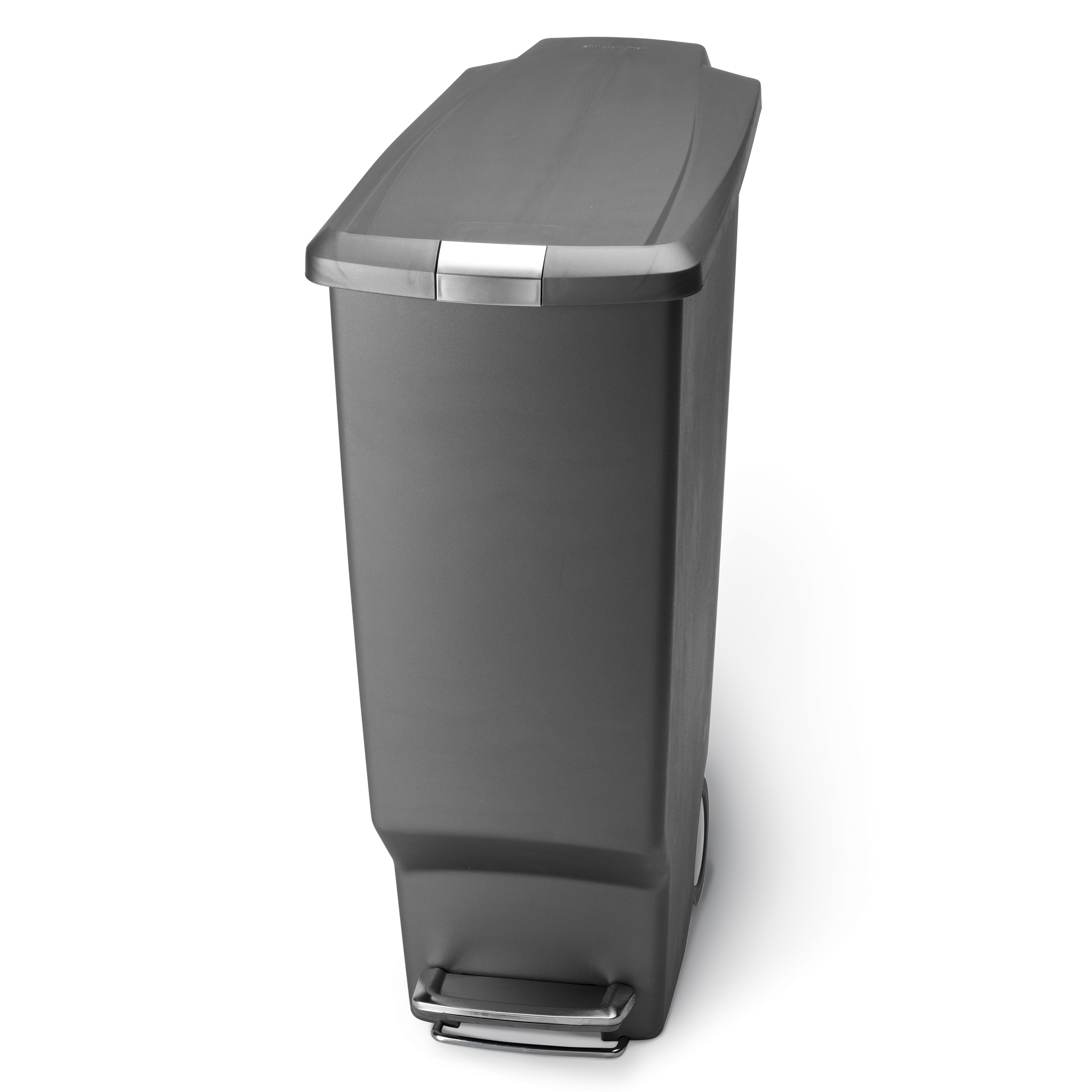 Simplehuman 40 Litre 10.6 Gallon Slim Step Trash Can White by simplehuman