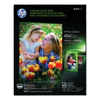 HP Everyday Photo Paper, 8 mil, 8.5 x 11, Glossy White, 50/Pack -HEWQ8723A