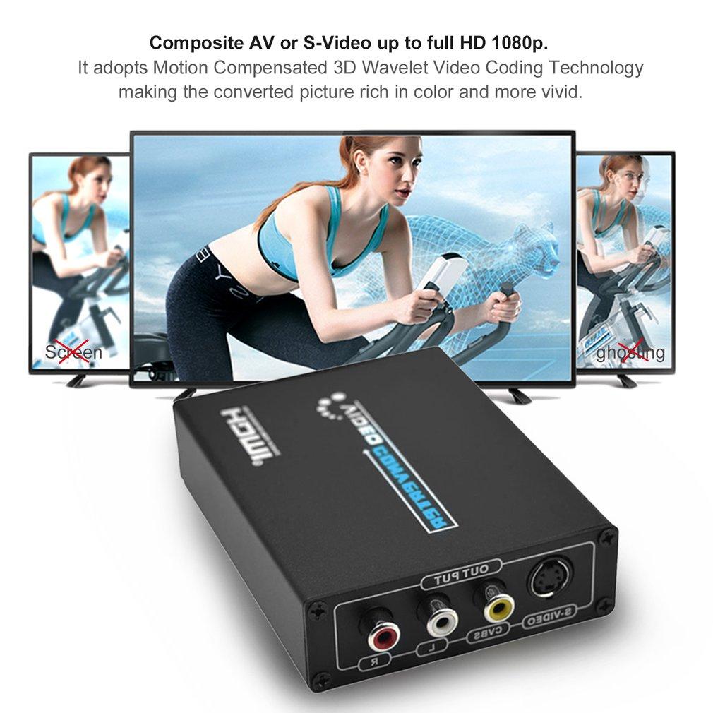 HDMI to Composite AV+S-Video Converter Switcher Adapter F...