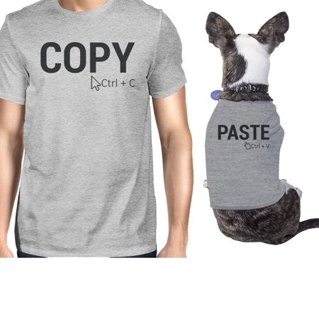 Copy And Paste Small Dog and Owner Matching Shirts Grey Funny Gifts