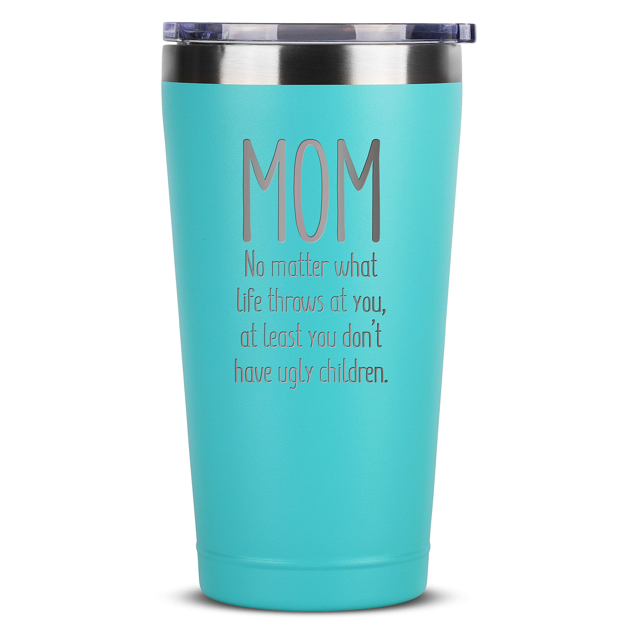 Pufuny Mothers Day Gifts from Daughters,Sons,Best Mom Ever 12 oz Stainless Steel Wine Tumbler,Mug,Mom Sippy Cup,Perfect Birthday Gift for Mother,Wife Mint Green