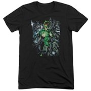 Green Lantern Surrounded By Death Mens Tri-Blend Short Sleeve Shirt