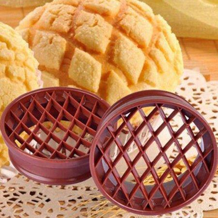 Jeobest 1PC Pineapple Bun Mold - Bread Mold DIY Baking Tool Pineapple Bread Mold Cake Mould Pineapple Bun Mold Cutter Bread Cake Mould Biscuit Stamp Mould Kitchen Tools MZ