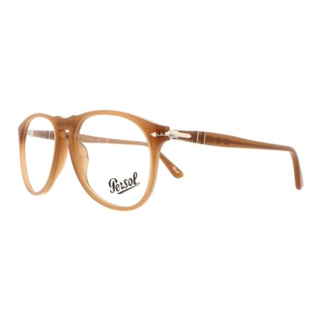 4e060113fb PERSOL Eyeglasses PO 9649V 1014 Ambra 52MM - Walmart.com