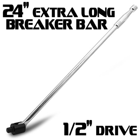 "24"" x 1/2"" Drive Socket Cr-V Breaker Bar Tool with Flex Head Wrench"